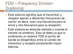 fdd frequency division duplexing