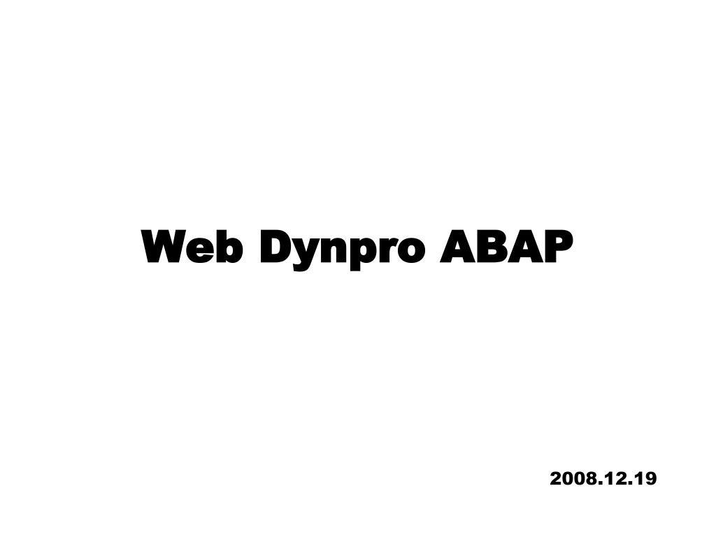 web dynpro abap l.