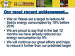 our most recent achievement