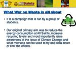 what war on waste is all about