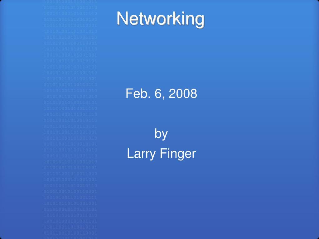 networking l.