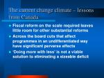 the current change climate lessons from canada