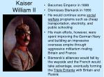 kaiser william ii