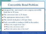 convertible bond problem