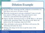dilution example