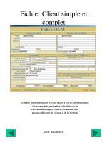 fichier client simple et complet