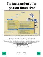 la facturation et la gestion financi re