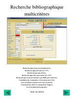 recherche bibliographique multicrit res