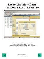 recherche mixte bases dilicom electre biblio