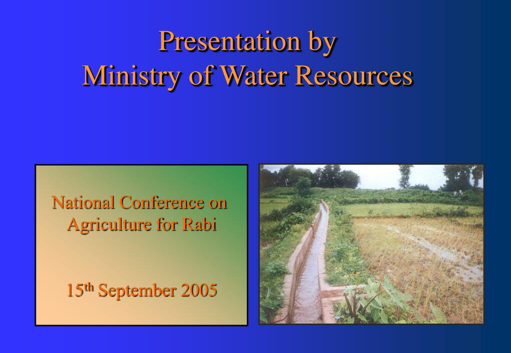 presentation by ministry of water resources l.