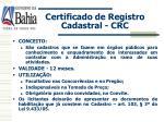 certificado de registro cadastral crc