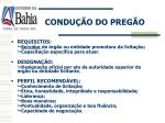 condu o do preg o