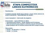 etapa competitiva lances eletr nicos