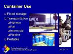 container use