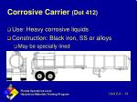 corrosive carrier dot 412