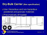 dry bulk carrier non specification