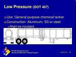low pressure dot 407
