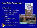 non bulk containers
