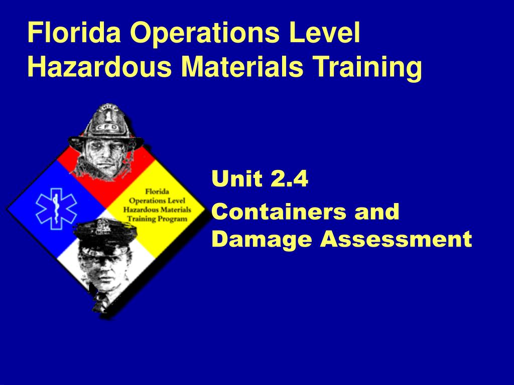 unit 2 4 containers and damage assessment l.