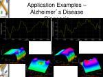 application examples alzheimer s disease diagnosis