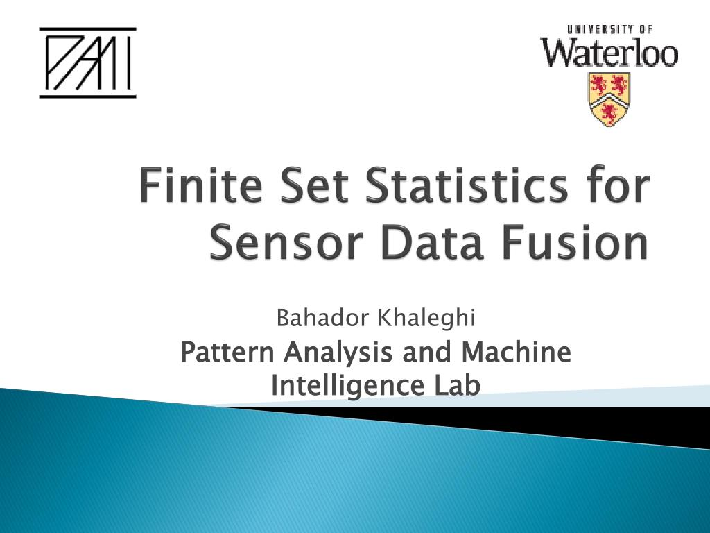 finite set statistics for sensor data fusion l.
