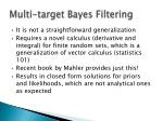 multi target bayes filtering15