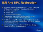 isr and dpc redirection