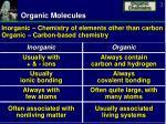 organic molecules