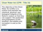 clean water act cfr title 33