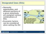 designated uses dus1