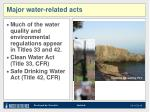 major water related acts