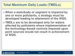 total maximum daily loads tmdls