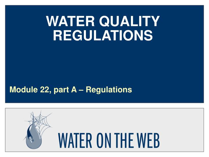 water quality regulations n.