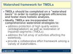 watershed framework for tmdls