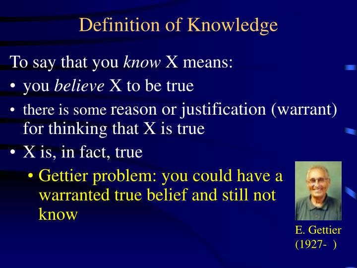 definition of knowledge n.