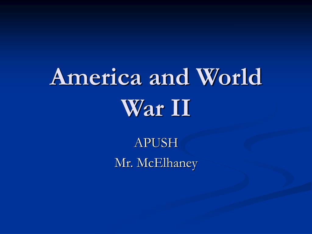 america and world war ii l.