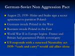 german soviet non aggression pact