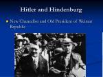 hitler and hindenburg