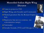 mussolini italian right wing dictator