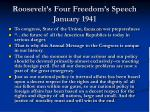 roosevelt s four freedom s speech january 1941