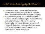 heart monitoring applications