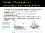 pediatric obesity study university of southern california