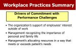 workplace practices summary49