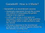 garadsil how is it made