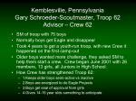 kemblesville pennsylvania gary schroeder scoutmaster troop 62 advisor crew 62