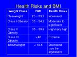 health risks and bmi