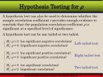 hypothesis testing for