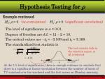 hypothesis testing for21