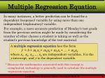 multiple regression equation