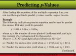 predicting y values